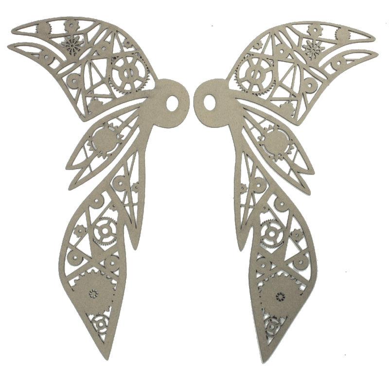 4368 Wicked Wings Chipboard