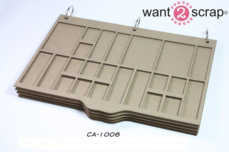 CA-1006 Printers Tray Album by Candy Rosenberg