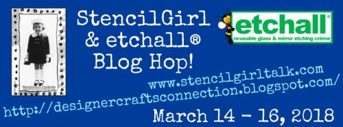 StencilGirl & etchall blog hop banner