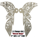 """A Vintage Girl"" Chipboard Wicked Wings"