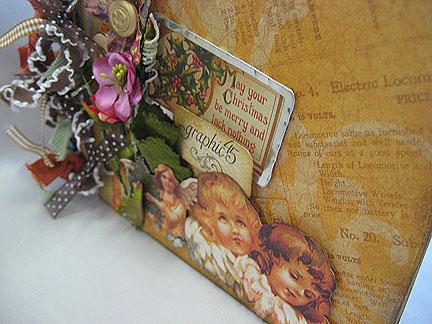 Graphic45 Christmas Album-Up Close